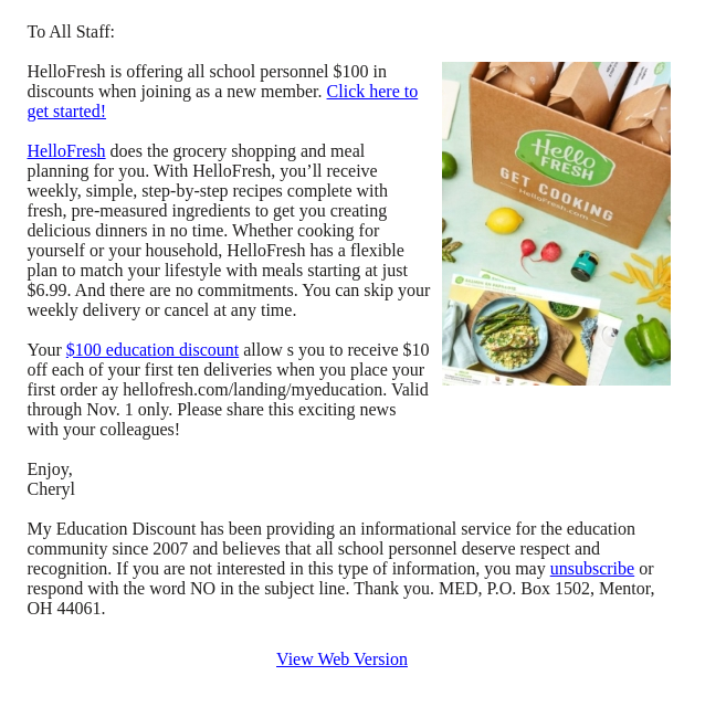 Not known Facts About Hello Fresh Delivery Times